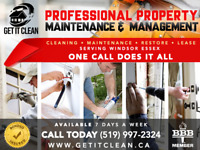 Professional Property Cleaning, Maintenance & Management Service