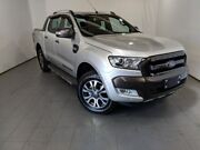 2017 Ford Ranger PX MkII 2018.00MY Wildtrak Double Cab Silver 6 Speed Sports Automatic Utility Elizabeth Playford Area Preview