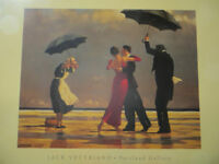 Jack Vettriano block mounted picture of the singing Butler