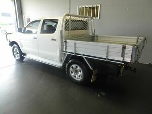 2007 Toyota Hilux KUN26R 06 Upgrade SR (4x4) White 5 Speed Manual Dual C/Chas Woodridge Logan Area Preview