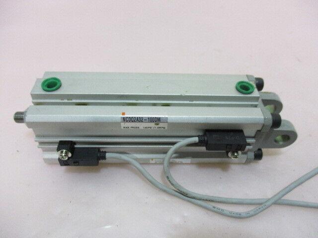 SMC NCDQ2D32-100DM-F79, CYL, COMPACT, AUTO-SW, Press. 145 PSI (1.0MPa). 415389