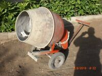 240v electric cement mixer WITH stand, concrete mixer, not petrol cement mixer cement mixer