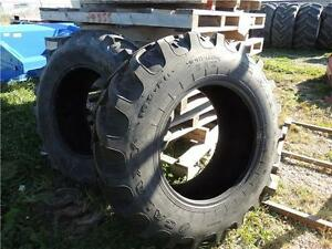 Two 16.9-28 Galaxy Tires off a New Holland Back Hoe