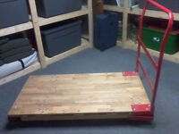 trade a almost new 30x60 Warehouse Push Cart