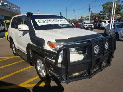 2014 Toyota Landcruiser VDJ200R MY13 VX White 6 Speed Sports Automatic Wagon Blair Athol Port Adelaide Area Preview