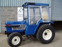 Used Iseki 4270 tractor with turf tyres & cab.