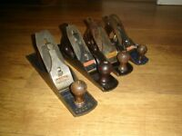 4 STANLEY/RECORD WOODWORKING PLANES