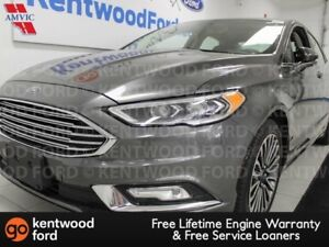 2017 Ford Fusion SE AWD ecoboost, NAV, sunroof, heated power lea