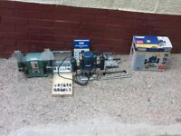 bench grinder and router