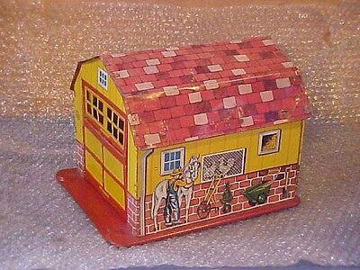 Vintage Tin Marx Toy Garage