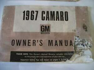 3 Chevrolet 1965 1967 Camaro Acadian Chevy II Owners manuals Stratford Kitchener Area image 2
