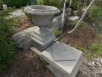 CONCRETE CEMENT PLANTERS PILLARS GARDEN ACCENTS
