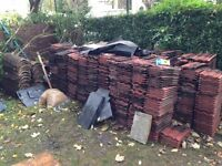 RECLAIMED RED CLAY ROOF TILES