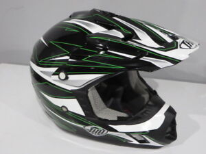 ATV Helmet - Youth Large - new condition - Green/White