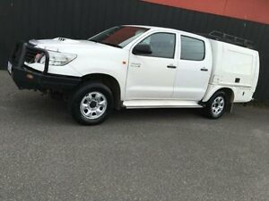 2013 Toyota Hilux KUN26R MY12 SR White 4 Speed Automatic 4D Utility Moorabbin Kingston Area Preview