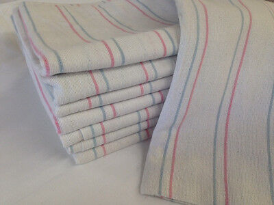 (6 striped baby receiving swaddling hospital blankets large 36x36 thick flannel)
