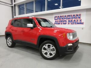 2017 Jeep Renegade LIMITED 4X4, NAV, LEATHER, BT, CAMERA, 17K!