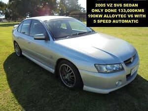 2005 Holden Commodore VZ 133,000KMS SV6 Silver 5 Speed Auto Active Select Sedan Wangara Wanneroo Area Preview