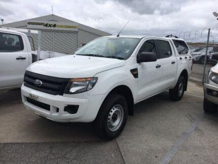 2013 Ford Ranger PX XL Double Cab 4x2 Hi-Rider White 6 Speed Manual Utility Seaford Frankston Area Preview