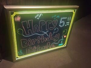 Neon Lit Board