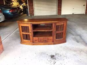 Retro Wooden TV and Entertainment Cabinet Earlwood Canterbury Area Preview