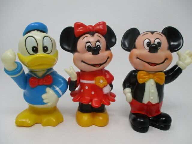 Walt Disney Productions Vintage Banks ~ Mickey Mouse, Minnie Mouse & Donald Duck