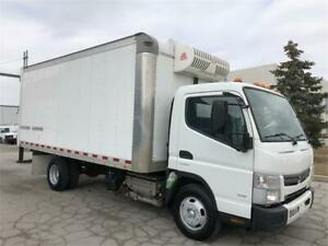 2015 Mitsubishi Fuso FE-130 - Refrigerated Cube Truck-16 ft Box