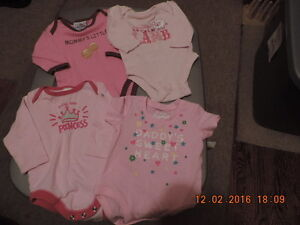 Girl's Size 0-3 month Novelty Onesies