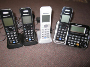 Panasonic KX-TG7841C Link-to-Cell Cordless Phones - 4 handsets