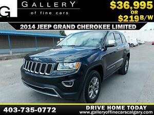 2014 Jeep Grand Cherokee LIMITED 4x4 $219 biweekly APPLY NOW