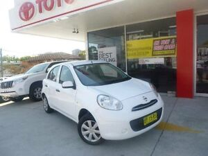 2012 Nissan Micra K13 Upgrade ST White 4 Speed Automatic Hatchback Allawah Kogarah Area Preview