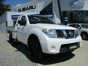 2011 Nissan Navara D40 RX White 6 Speed Manual Cab Chassis Glendale Lake Macquarie Area Preview