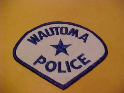 WAUTOMA WISCONSIN POLICE PATCH SHOULDER SIZE UNUSED