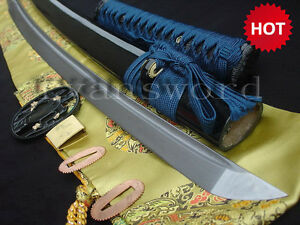 Folded-Steel-Japanese-Sword-Katana-Full-Tang-with-Groove-Accessory-Optional