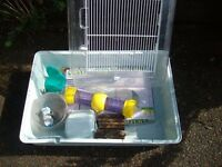 Hamster Cage and accessories including folding separate run, all in very good condition.