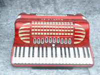 """Excelsior """"Professional"""" 120 Bass Piano Accordian with heavy duty flight case"""