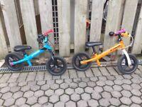 2 balance bikes bought at decathlon, good condition