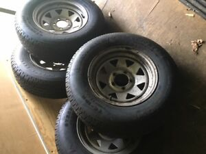 Trailer wheels and tires 14 in.