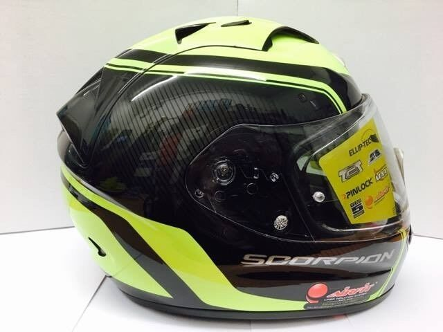 Scorpion Exo-1200 Air Stream Tour Black Neon Yellow Motorcycle Helmet
