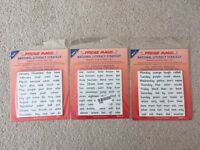 Year 1 and 2 Learning Magnetic Words Sets 1-3 NEW in packs