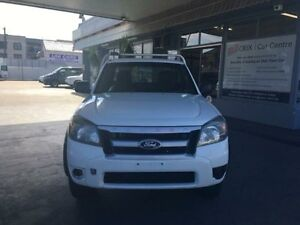 2011 Ford Ranger PK XL Hi-Rider White 5 Speed Manual 4D CAB CHASSIS Hamilton Newcastle Area Preview