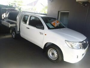 2013 Toyota Hilux GGN15R MY12 SR Xtra Cab 4x2 White 5 Speed Automatic Utility Merrylands Parramatta Area Preview