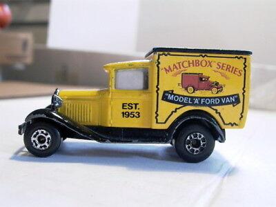 Matchbox vehicle Billboard Model A Ford Van made in 1979 Beautiful,WOW ! L@@K!