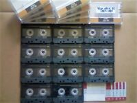 A2Z NOW VERY RARE TDK AR-X 90 1987-1989 ULTRA PREMIUM CASSETTE TAPES W/ C, C & L's & FREE P&P