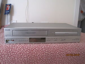 philips video cassete recorder and dvd player