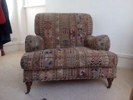Roomy Vintage Armchair