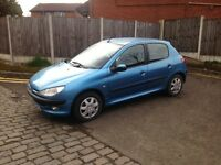 ONLY £595 PEUGEOT 206 1.4 5 DOOR - NEW M.O.T *ONLY 51K MILES - BARGAIN, CHEAP CAR
