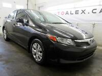 2012 Honda Civic LX AUTOMATIQUE A/C CRUISE SEUL. 39,000KM