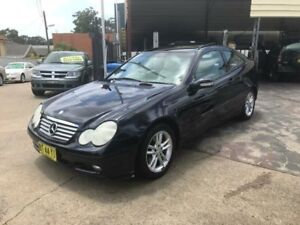 2003 Mercedes-Benz C230 Kompressor CL203 MY2003 Sports Evolution Electric Blue Automatic Coupe Yagoona Bankstown Area Preview