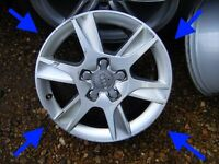 Audi A3 Alloy wheels SE 2011 16inch GENUINE CADDY SKODA GOLF SEAT VW 5X112